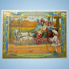 The Goat Carriage Large Au Bon Marche Trade Card