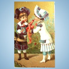 Polichinelle & Bebe French Doll Trade Card