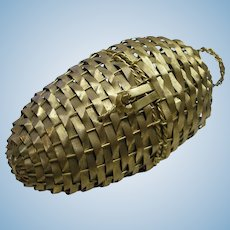 Easter Woven Metal French Basket