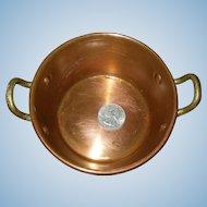 Antique French Doll Kitchen Copper Pot