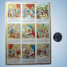 Sleeping Beauty French Story Trade Card