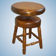 Toy Stool for Your Doll's Piano