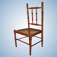 RARE Large Faux Bamboo Chair