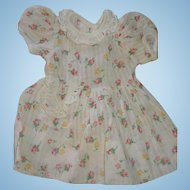 Mid-Century Small Doll Dress