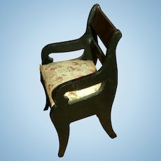 Antique Doll Chair for All-Bisque Doll or Doll house