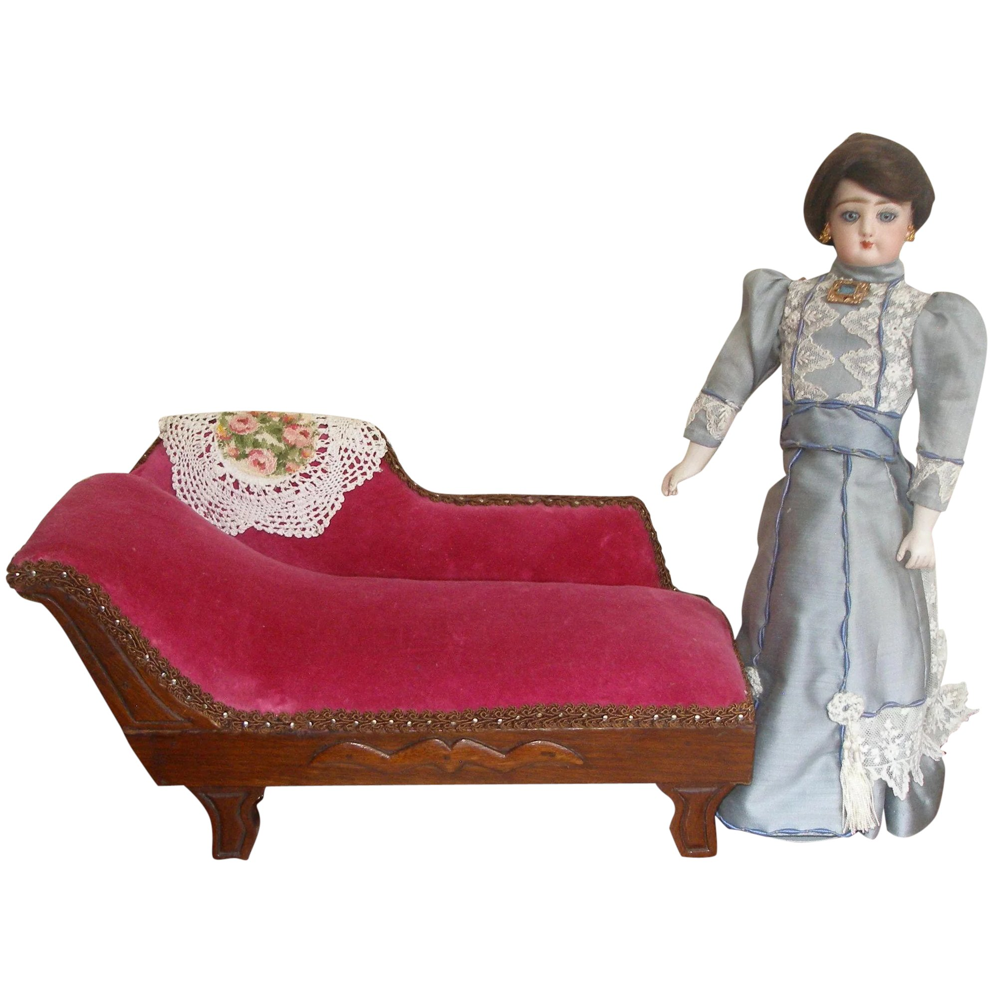 Awe Inspiring Fainting Couch For Smaller 11 14 Doll Unemploymentrelief Wooden Chair Designs For Living Room Unemploymentrelieforg