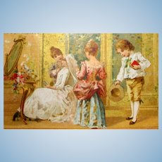 1st Communion French Trade Card