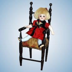 Napoleon III Doll Chair from France