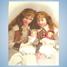 Lovely Dolls Lithograph from France