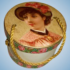 Gorgeous Antique Doll Hatbox
