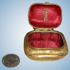 Tiny Ormolu Trinket Box for Your Doll