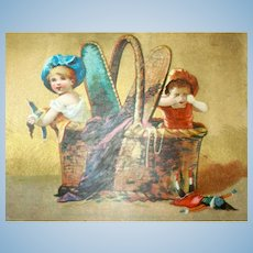 Salesman Sample French Doll Trade Card