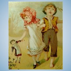 FREE Shipping!  Two French Doll Trade Cards