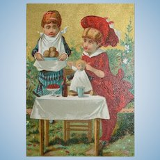 FREE Shipping! Salesman Sample French Doll Trade Card
