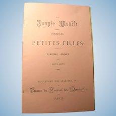 PATTERNS Intact Feb. 1873 La Poupee Modele Complete Magazine
