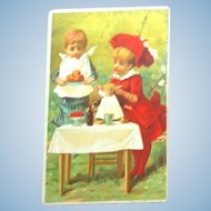 FREE Shipping!  French Trade Card Dolly's Lunch!