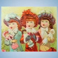FREE Shipping!  3 Little Mommies French Trade Card