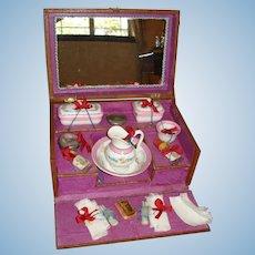 Exquisite French Toilette Set in Original Presentation Box!