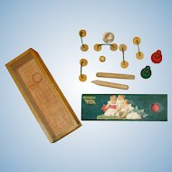 Antique French Miniature Croquet Game