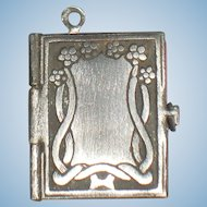 Miniature French Diary Pendant Charm for Your Doll