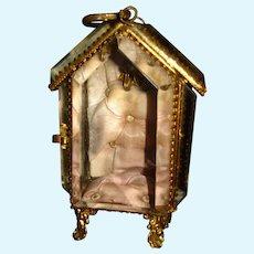 Antique French Ormolu/Beveled Glass Coffret