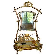 Elegant Ormolu & Marble French Vanity Stand