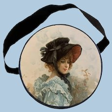 Elegant Antique French Hatbox for Your Lady Doll