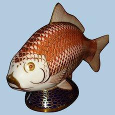 Royal Crown Derby Porcelain Koi Fish