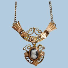 Gorgeous Antique Gold-Filled Etruscan Style Necklace