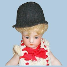 Antique French Doll Equestrian/Riding Hat!