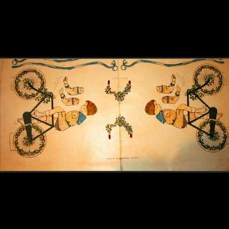 La Poupee Modele Bicycle Boy Cut-Out