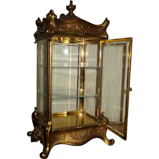 Stunning Antique French Display Case for Doll and Other Treasures