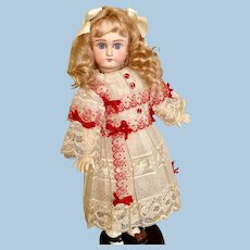 Beautiful Cabinet Sized Solid Dome German Doll