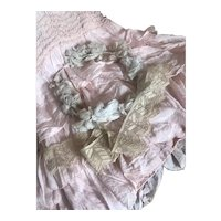 Bella Bordello Antique Ecru Lace Trim Embroidered Applique Chevron