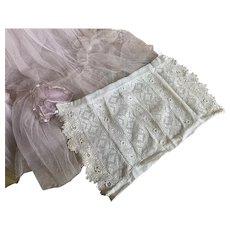 Bella Bordello Antique Intricate Irish Crochet Lace Panel Bodice or Dress Front