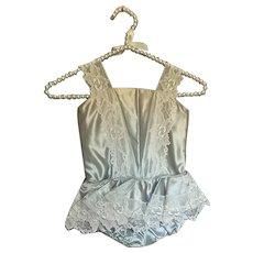 Bella Bordello Vintage Young Girls Shabby Chic Blue Satin Ballet Tutu Costume Floral Lace