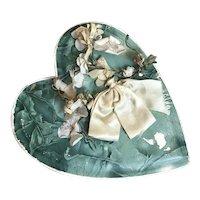 Bella Bordello Antique Candy Chocolate Box Blue Maeve Millinery Flower Silk Bow