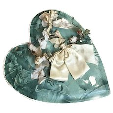 Bella Bordello Antique Candy Chocolate Box Blue Maeve Millinery Flower Silk Bow