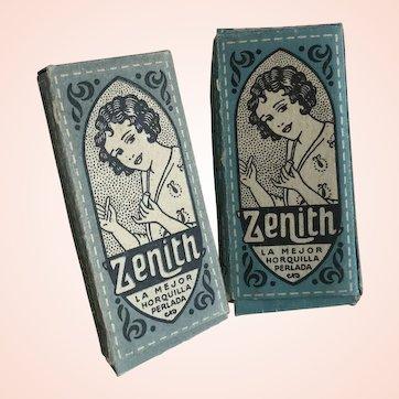 Bella Bordello 2 Packs Antique Vintage Flapper 1920s Bobby Pins in Blue Box