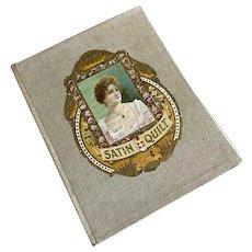 Bella Bordello Antique Vintage Book Unused Linen Journal Scrapbook Diecut Woman Gold Foil