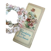 Antique Shabby Chic Book Litho Pages Friendship Floral Cover