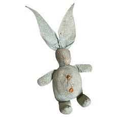Bella Bordello Vintage Handmade Folk Art Farmhouse Bunny Rabbit Stuffed Animal