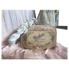 Bella Bordello Vintage Pink Candy Box Gales Chocolate Gold Foil Shabby Chic Floral