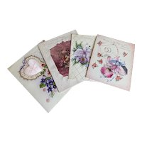 Bella Bordello Vintage Collection Padded Satin Greeting Card Valentine Wife Ester Wedding Anniversary Lavender Pink