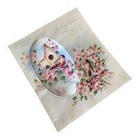 Bella Bordello Vintage XL Padded Satin Greeting Cards Birthday Wife Birds Birdhouse Rust Craft