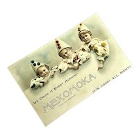 Bella Bordello Antique Trade Card Mexomoka Pierrot Child Costume