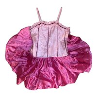 Bella Bordello Vintage Pink Sequined Ballet Tutu Costume Wired Skirt Faded Stars