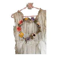 Bella Bordello Antique Romantic Floral Fairy Garden Millinery Crown Wreath Headdress