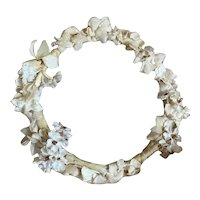 Vintage French Flower Crown Petite Headdress Ivory Shabby Chic
