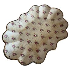 Vintage Floral Shabby Chic Tray Paper Mache Wallpaper Style